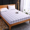 Printed Fitted Bed Sheet With Elastic Band - Checks