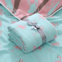 Six Cotton Layers Mother Blanket Baby Bath Towel - Blue