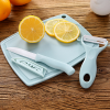 Fine Quality Fruit Peeler And Cutter Tools Set - Blue