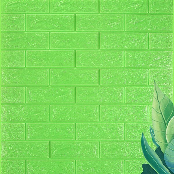 Stereo Waterproof Bricks Wall Paste 3D Wall paper - Green