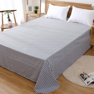 Printed Stripes Fitted Bed Sheet With Elastic Band - Stripes