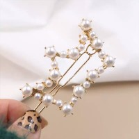 Pearl Decorated Fancy Head Wear Hair Clips - Crown