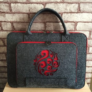 Canvas Engraved Zipper Tablet And Macbook Bags