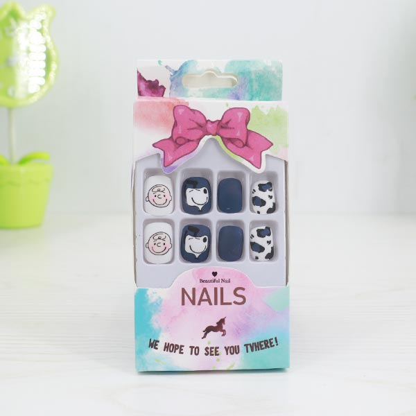 Different Pattern Party Four Pair Nails Sets - Blue