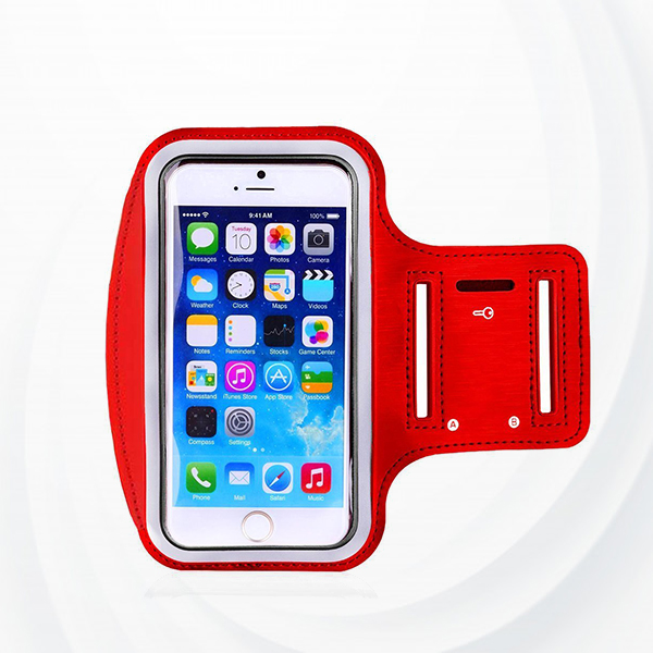 Smart Holding Sports Out Door Mobile Arm Belt - Red