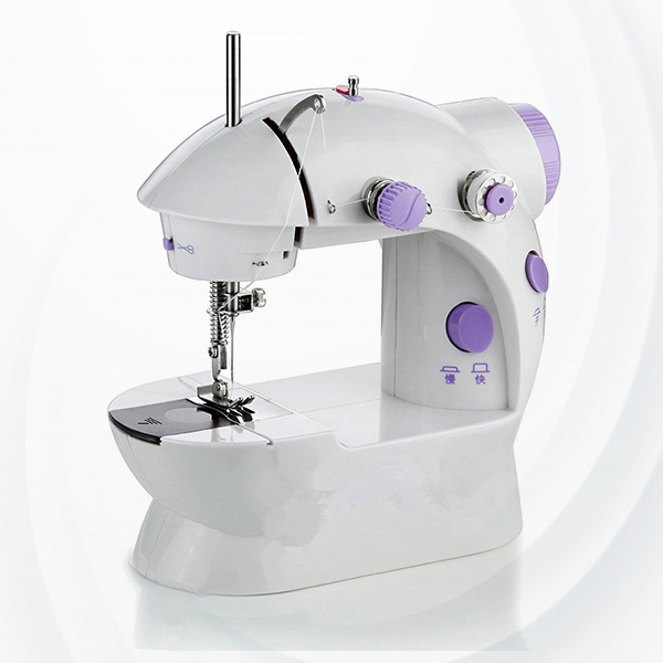 Multifunction Household Mini Sewing Machine - White