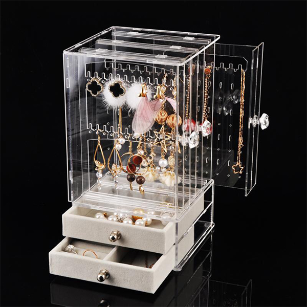 Vertical Transparent Cassette Storage For Jewellery