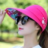 Sun Protection Cap Foldable Traveller Hat - Hot Pink