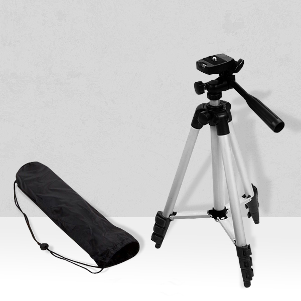 Multipurpose Quality Mobile And DSLR Stand - Silver