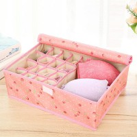 Cherry Printed Clothes Storage Box - Pink