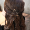Comfortable Gold Plated Hair Clip - Triangle