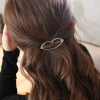 Comfortable Gold Plated Hair Clip - Lips