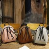 Zipper Closure Mini PU Leather Backpacks - Brown