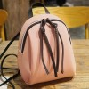 Zipper Closure Mini PU Leather Backpacks - Pink