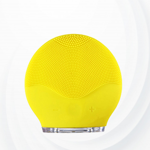 Electric Facial Cleanser Silicone Massage Brush - Yellow