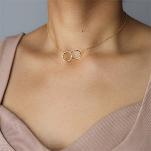 Double Ring Thine Neck Chain Pendant