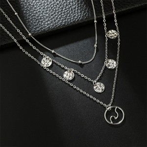 Silver Plated Chain Pendant Necklace