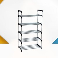 Five Layers Shoe Organizer Multi Purpose Shoes Rack - Black