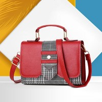 Magnetic Closure PU Leather Messenger Bags - Red