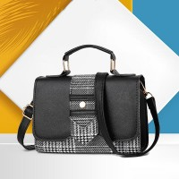 Magnetic Closure PU Leather Messenger Bags - Black