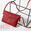 PU Leather Ring Flap Messenger Bags