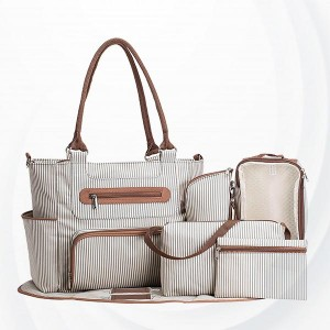 Multi-functional Large Capacity Mother Baby Diaper Bags - Gray