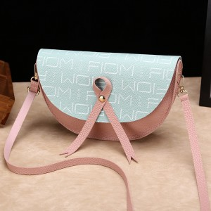 Cross-body Letters Texture Girl Messenger Bag - Pink