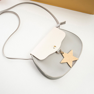 Round Shaped PU Star Patched Shoulder Bags