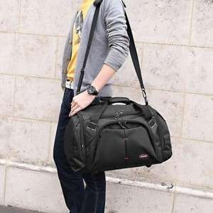Water Resistant Multipockets Traveller Bags - Black