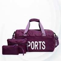 Sports Fitness Waterproof Training Yoga Bags Set - Purple