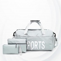 Sports Fitness Waterproof Training Yoga Bags Set - Silver