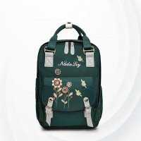 Tide Embroidered Waterproof Travel Diaper Bags - Green