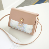 Holographic Contrast PU Textured Purse - Pink
