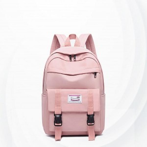 Buckle Closer Multi Compartments Backpacks - Pink