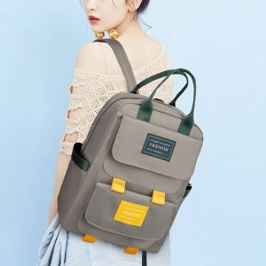 Solid Pattern Multi Pockets Casual Backpacks - Green