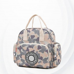 Canvas Zipper Polyester Baby Diaper Bags - Multi Color