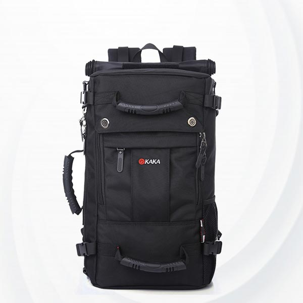 Leisure Waterproof Three Dimensional Backpack - Black