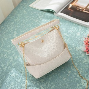 Transparent Designers Synthetic Leather Bags - White