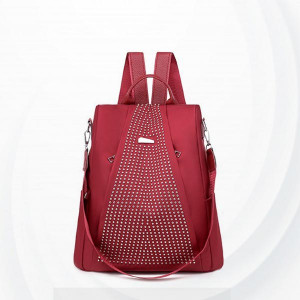 Multi Pockets Large Capacity Backpacks - Red