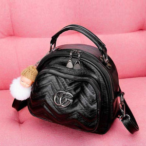 Small Casual Teddy Convertible Backpacks - Black