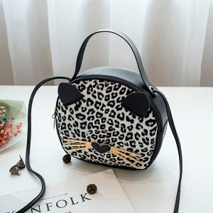 Cat Shaped Party Beautiful Shoulder Bags - Black & White