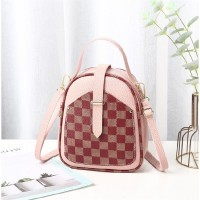 Contrast Lattice Print Multi-functional Backpacks - Pink