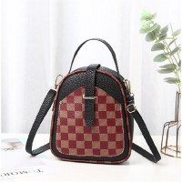 Contrast Lattice Print Multi-functional Backpacks - Black