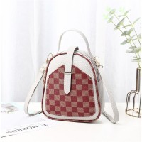 Contrast Lattice Print Multi-functional Backpacks - Gray