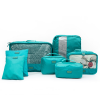 Seven Pieces Wide Space Traveller Canvas Bags - Green