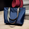 Plain Nylon Strappy Shoulder Bags - Blue