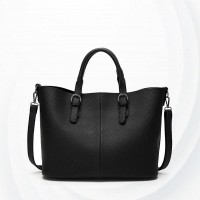 Solid Pattern Casual Female Handbags - Black