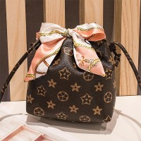 Stars Texture Scarf Strap Casual Messenger Bag - Coffee