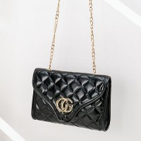 Pu Leather Magnetic Closure Baby Girl Bags - Golden Chain