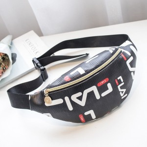 Trendy Letters Printed Cross-body Women Bags - Black